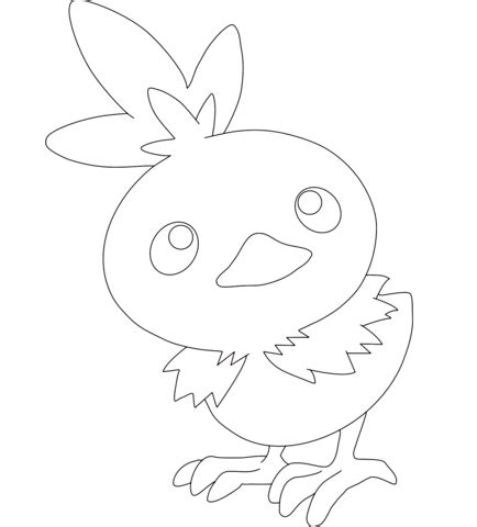 Torchic Coloring Page Free Printable Coloring Pages Torchic Coloring Pages