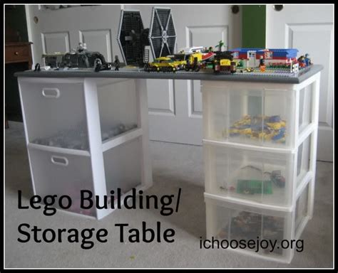 lego table and storage diy lego building and storage table