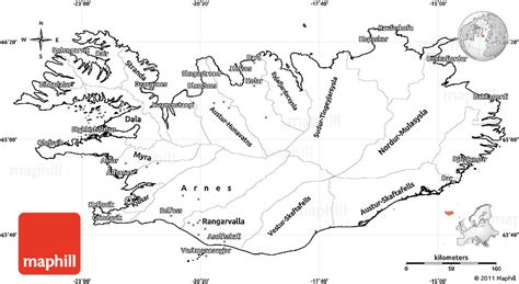 iceland map coloring page blank simple map of iceland