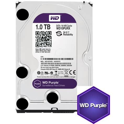 Harddisk Cctv Wd Purple 4 Tb Garansi 3 Tahun Bozzz wd purple quot security cctv quot wd10purx 1tb sata 6 0gb s 3 5 quot drive