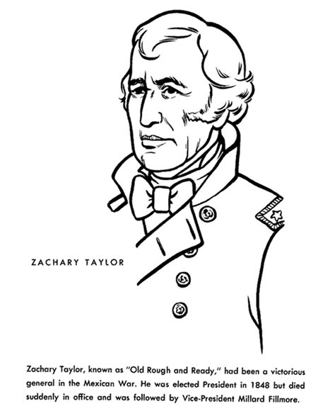 usa printables president zachary taylor coloring page