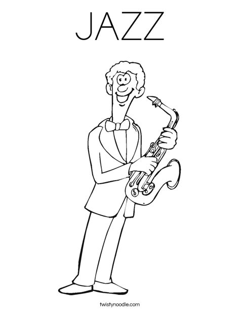 Jazz Coloring Pages jazz coloring page twisty noodle