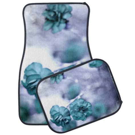 Pretty Car Floor Mats by Pretty Blue Flower Car Mats Car Mat Zazzle
