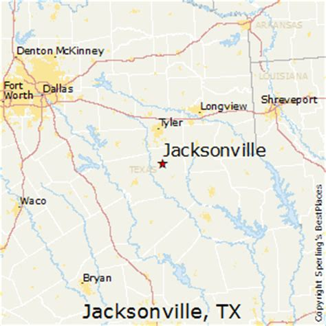 jacksonville texas map best places to live in jacksonville texas