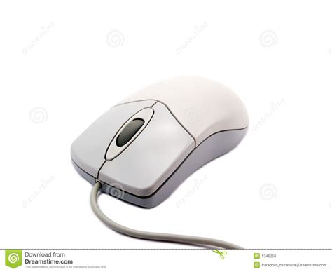 computer mouse on white background with soft shadow 2