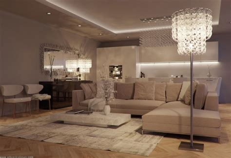 luxurious  elegant living room design classics meets