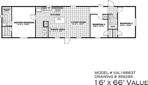 18x80 mobile home floor plans house design plans