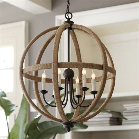 How To Make An Orb Chandelier Orson Jute Orb Chandelier Home Pinterest
