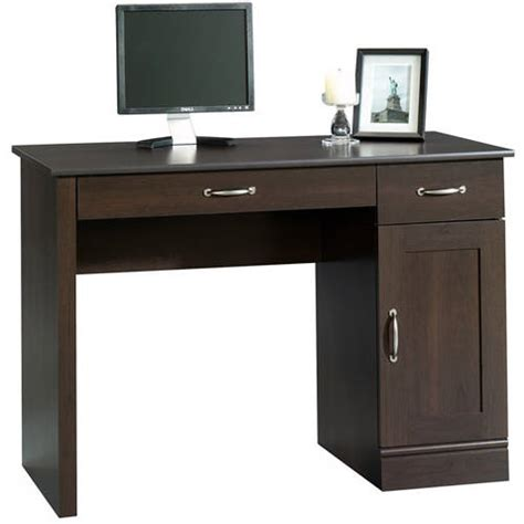 sauder parklane collection computer desk cinnamon cherry