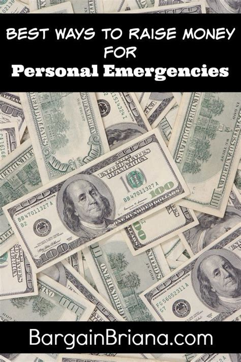 what is the best way to raise a best ways to raise money for personal emergencies