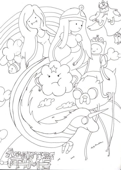 kids adventure time coloring pages coloring in for