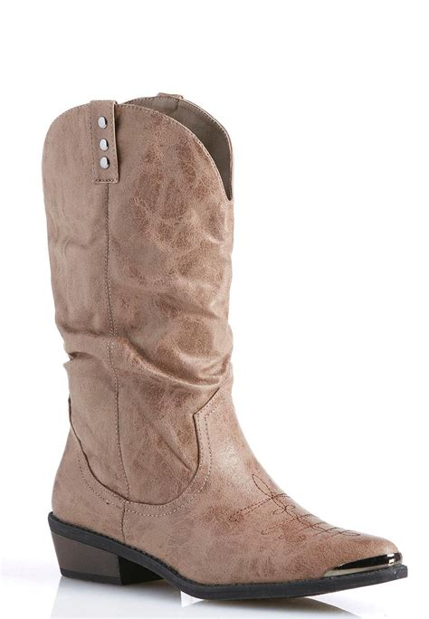 cato boots scrunched western boots boots cato fashions