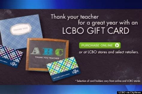 Lcbo Gift Card - lcbo targeting kids parents wary of gift card for teacher