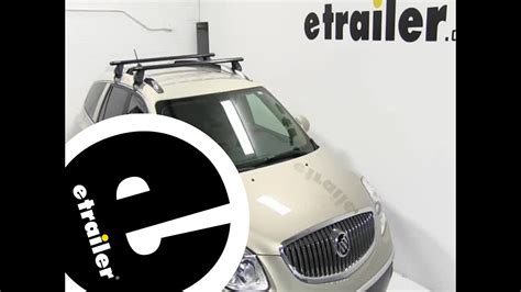 buick enclave roof rack installation of a rhino rack roof rack with aero crossbars