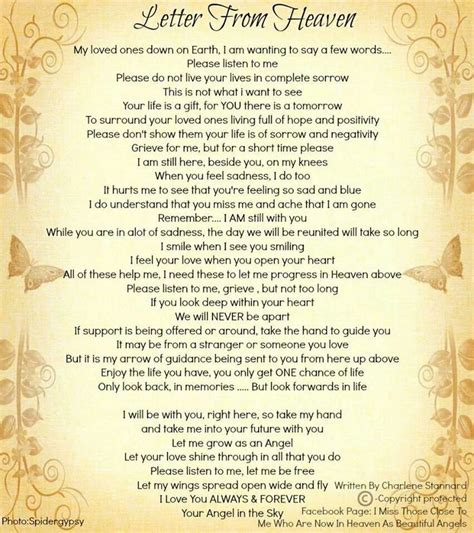 up letter poem letter from heaven is a wonderful refreshing of