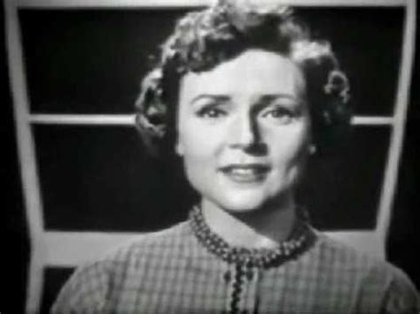 young betty white images pictures findpik betty white at 1954 clip of a young betty white singing quot nevertheless i