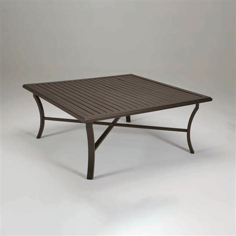 tropitone banchetto 66 quot square dining table leisure living