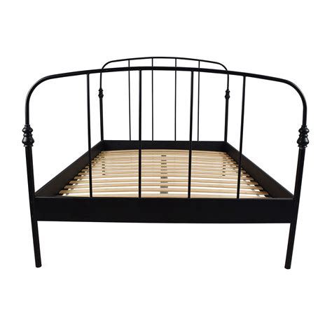 62 Off Ikea Ikea Svelvik Full Size Black Bed Frame Beds Black Ikea Bed Frame