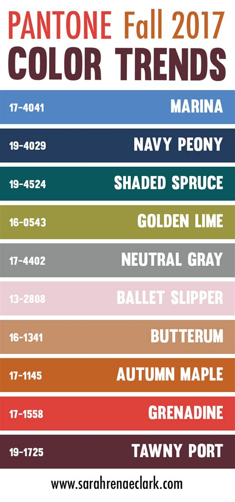 25 color palettes inspired by the pantone fall 2017 color