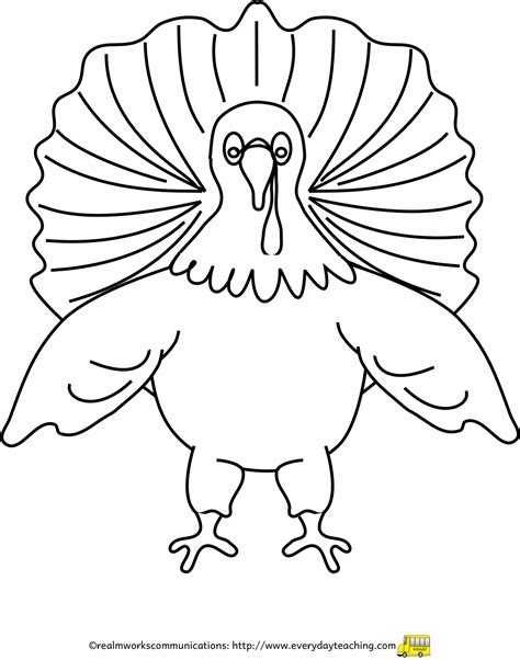 printable turkey cut out template printable turkey template