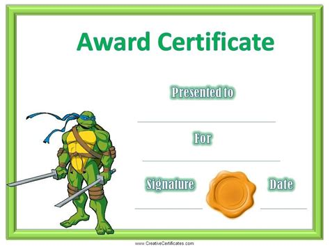 Children's Certificates   Free and Customizable   Instant