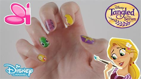nail art tutorial disney channel tangled the series nail art tutorial official disney