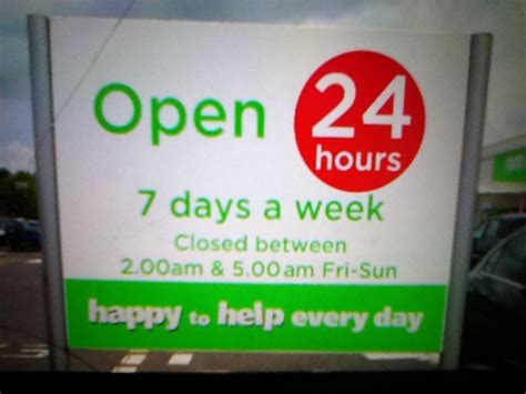 tangs opening hours new year asda didn t understand the concept of being open 24hrs 7