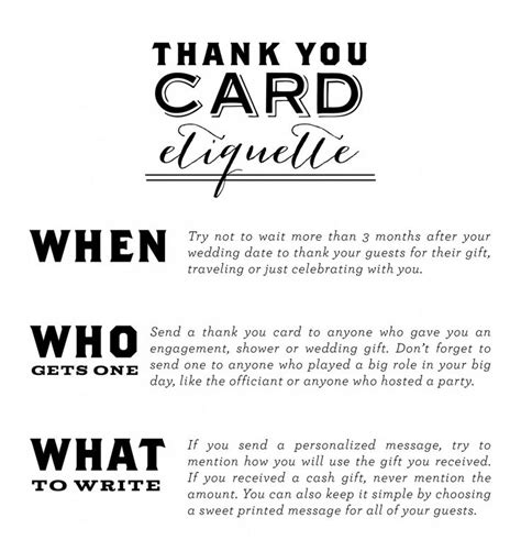 etiquette for sending thank you notes wedding gifts thank you card etiquette everyone that attends your wedding has spent their earned time
