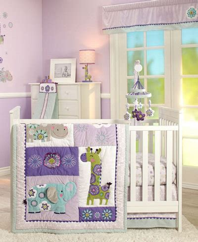 Carter S Zoo Collection 4 Piece Crib Bedding Set Bed In Macys Crib Bedding