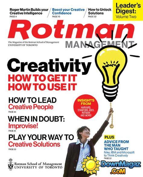 Rotman Mba Magazine by Rotman Management Ca Leader S Digest Volume 2