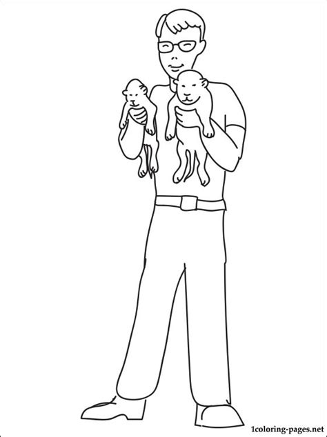 Zoologist сoloring page | Coloring pages