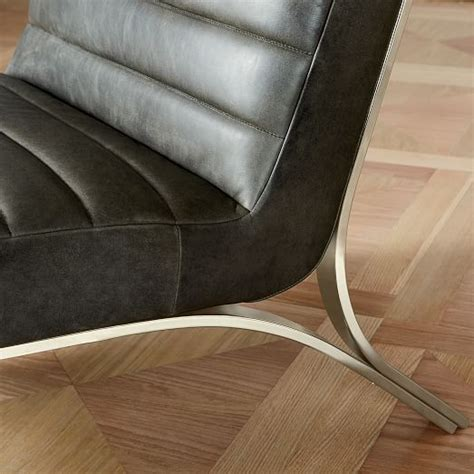 emil leather slipper chair emil leather slipper chair west elm