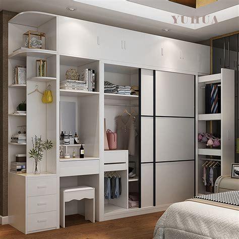 china simple dressing table sliding door wooden wardrobe