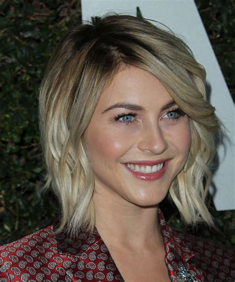 what shape face does julianna hough have julianne hough medium wavy casual hairstyle medium