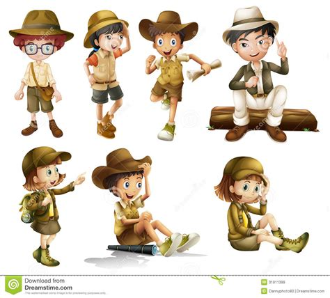 1431702064 on safari a young explorer s boys and girls in safari costume royalty free stock images