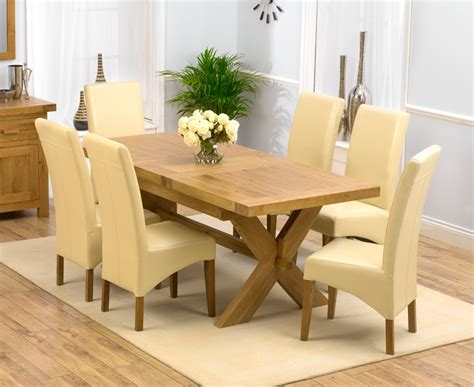 kitchen chunky solid oak dining table and 6 chairs