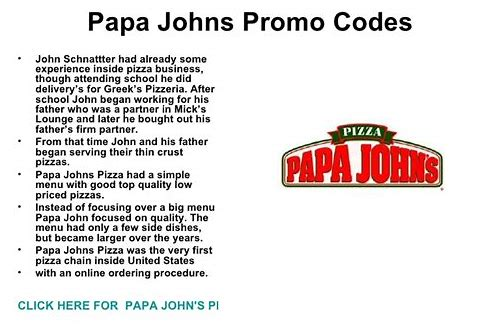 papa johns free pizza coupon code