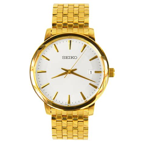 seiko quartz gents gold plated sgef92p1 sgef92p sgef92