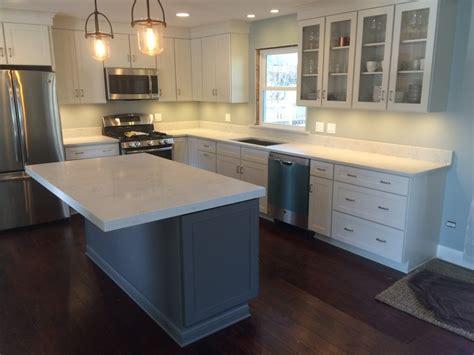 Red And White Kitchen Design misterio quartz in naperville il stonetek design