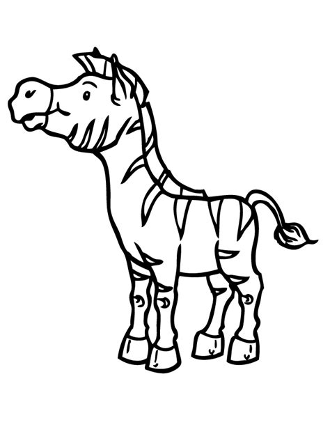 baby zebra coloring page zebra realistic coloring