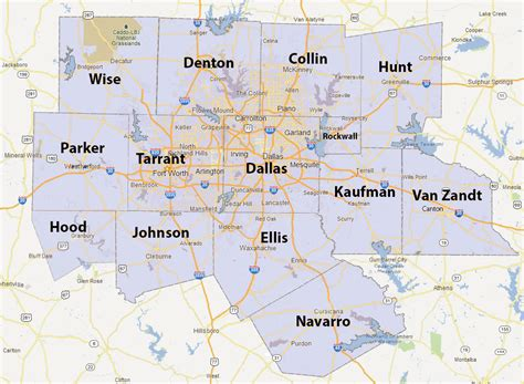 dfw county map dallas county lines map pictures to pin on