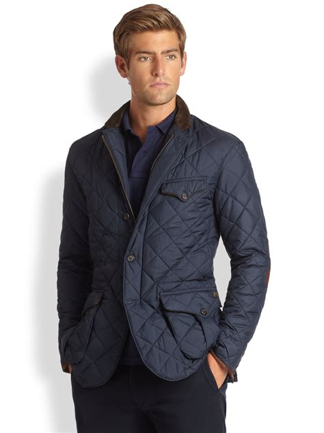 Polo Ralph Quilted by Polo Ralph Quilted Sportcoat In Blue For Lyst
