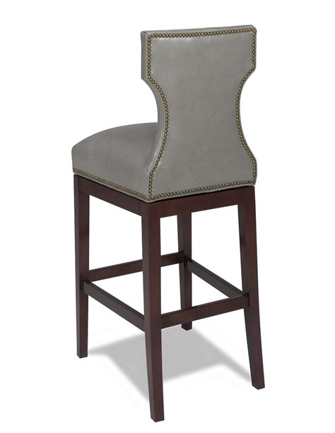 Leather Bar Stool Chairs by Leather Bar Stools Karma Swivel Leather Bar Stool
