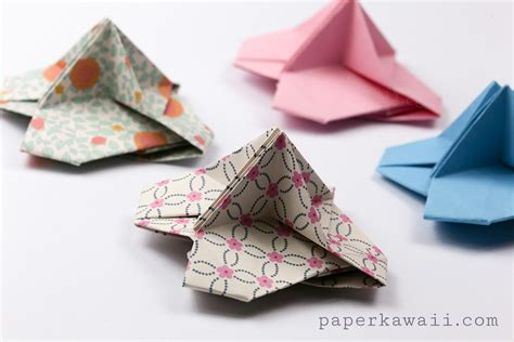 Origami Paper Holder - origami card holder paper kawaii