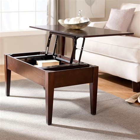 coffee table that opens for storage turner lift top coffee table espresso coffee tables at