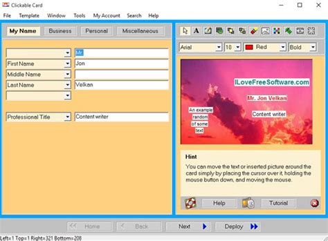 business card maker freeware 5 business card creator software for windows 10