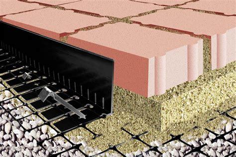 high edge restraint  permeable paver  aggregate