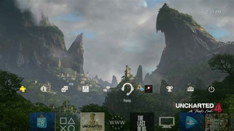 ps4 themes uncharted uncharted 4 a thief s end mountain vista ps4 dynamic