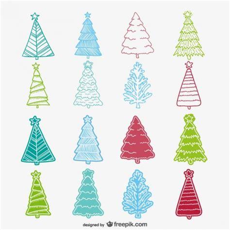 colecci 243 n de dibujos de 225 rboles de navidad de colores