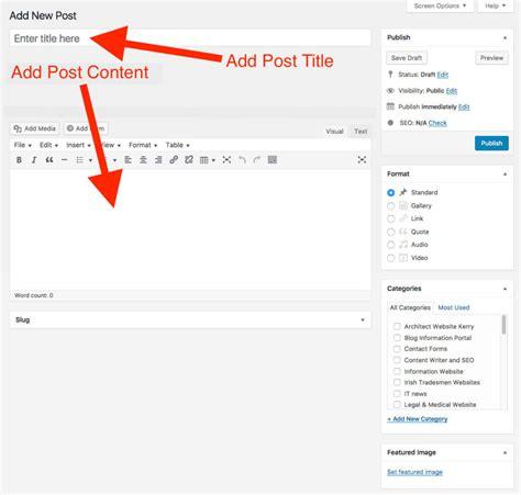membuat artikel produk membuat dan posting artikel di wordpress tutorial web